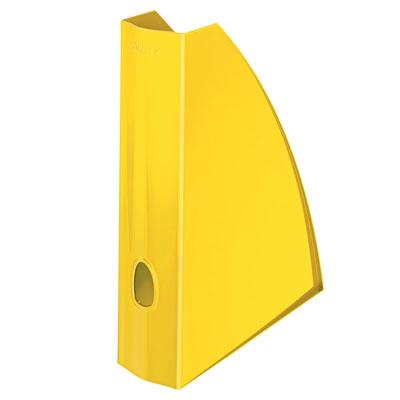 Porte-revues LEITZ Wow pour format A4 en polystyrène - L7,5 x H31,2 x P25,8 cm - jaune