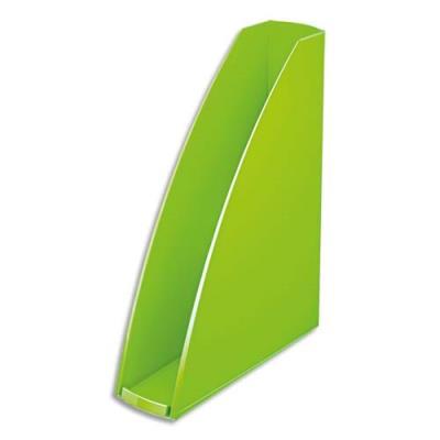 Porte-revues LEITZ Wow pour format A4 en polystyrène - L7,5 x H31,2 x P25,8 cm - vert brillant
