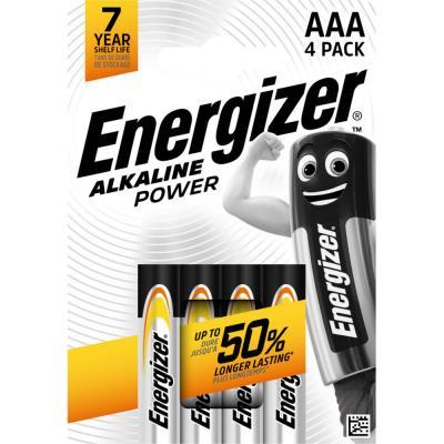 Pile alcaline AAA / LR3 Energizer Power - lot de 4