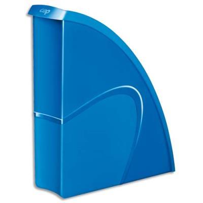 Porte-revues CEP Gloss - dos 8 cm - bleu océan (photo)