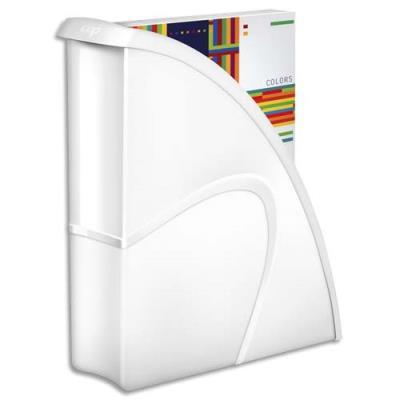 Porte-revues CEP Gloss - dos 8 cm - blanc (photo)