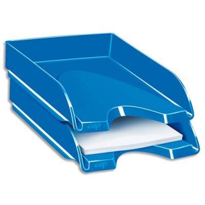 Corbeille à courrier CEP Gloss - 24 x 32 cm - bleu océan (photo)