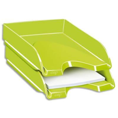 Corbeille à courrier CEP Gloss - 24 x 32 cm - vert anis (photo)