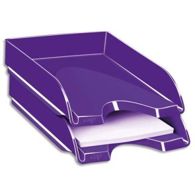 Corbeille à courrier CEP Gloss - 24 x 32 cm - violet (photo)