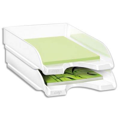 Corbeille à courrier CEP Gloss - 24 x 32 cm - blanc (photo)