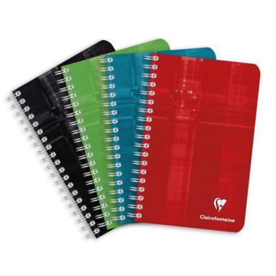 Carnet spiralé Clairefontaine - 180 pages - 11 x 17 cm - petits carreaux