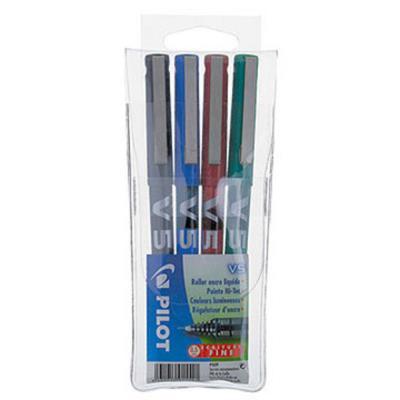 Pochette de 4 stylos Pilot BX-V5 - 0,5 mm - pochette de 4 - coloris assortis