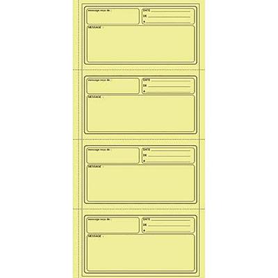 Carnet pour 140 messages 1er prix avec reçus détachables sur papier autocopiant (photo)