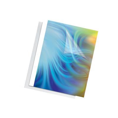 Couvertures thermiques Fellowes - A4 - 4 mm - 150µ+200g - blanches - boîte de 100