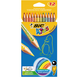 Etui de 12 crayons de couleur Tropicolors Bic - coloris assortis (photo)