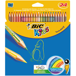 Etui de 24 crayons de couleur Tropicolors Bic - coloris assortis (photo)