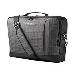 Hp slim ultrabook top load sacoche pour ordinateur portable 15 6 plaid gris tissage noir - Top office ordinateur portable ...