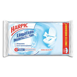 Lingettes WC Harpic - paquet de 30 (photo)