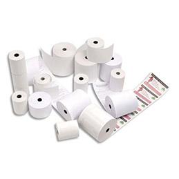 Bobine de papier thermique pour caisse et TPV - format 80 x 80 x 12 mm - 1 pli - longue conservation - Impression garantie 2 ans (photo)