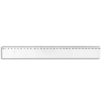Règle plate en plastique JPC - longueur 30 cm (photo)