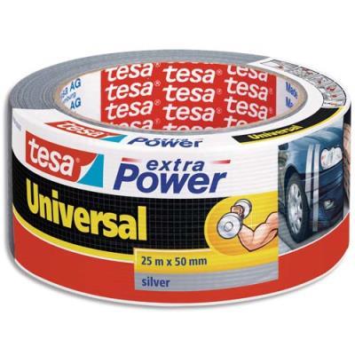 Rouleau de toile adhésive renforcée Tesa Extra-Power - 50 mm x 25 m - coloris gris (photo)