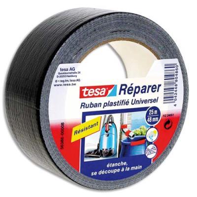 Rouleau de toile adhésive renforcée Tesa Extra Power - 50 mm x 25 m - coloris noir (photo)