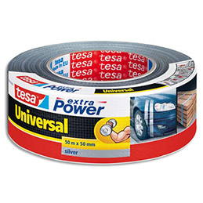 Rouleau de toile adhésive renforcée Tesa - 50 mm x 50 m - coloris gris (photo)