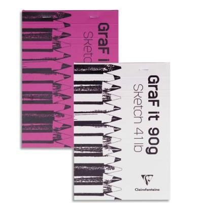 Bloc de croquis Graf It - format A5 14,8 x 21 cm - 80 pages microperforées 90g (photo)