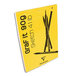 Bloc de croquis Graf It - format A4 21 x 29,7 cm - 80 pages microperforées 90g (photo)