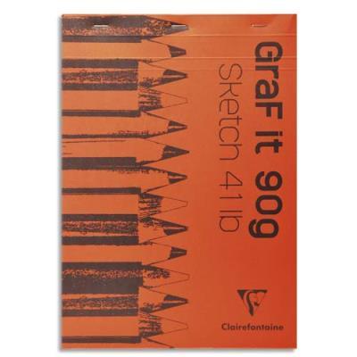 Bloc de croquis Graf It - format A4 21 x 29,7 cm - 80 pages microperforées 90g (photo)
