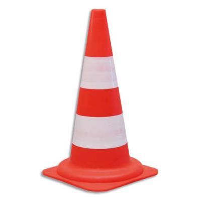 Cône standard pour voies privées VISO - Diamètre 29, hauteur 49 cm - coloris orange (photo)