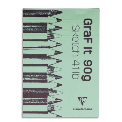 Bloc de croquis Graf It - format A3 29,7 x 42 cm - 80 pages microperforées 90g (photo)