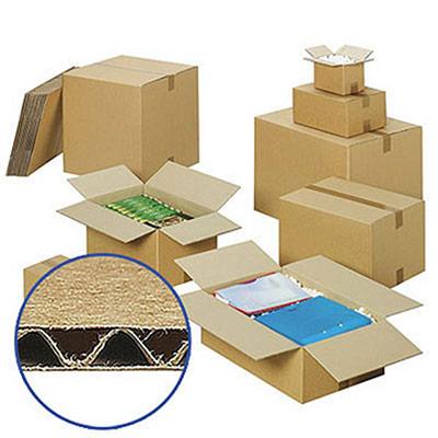 Caisse carton brune - simple cannelure - 54 x 32 x 36 cm