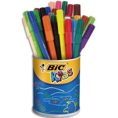 Pot de 36 feutres pointe fineVISA 2x18, couleurs assorties Ecole