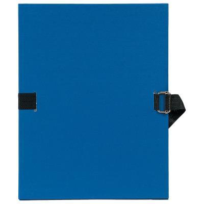 Chemise à dos extensible avec sangle- format 24 x 32 - qualité toilée - Coloris Bleu foncé