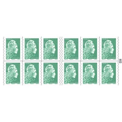 Carnet de 12 timbres autocollants lettre verte - soumis à conditions