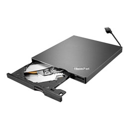 Lenovo ThinkPad UltraSlim USB DVD Burner - Lecteur de disque - DVD±RW (±R DL)/DVD-RAM - SuperSpeed USB 3.0 - externe - CRU - pour ThinkPad L470; L570; P51; P71; T470; T570; X270; ThinkPad Yoga 11e Chromebook; 370; V510 (photo)