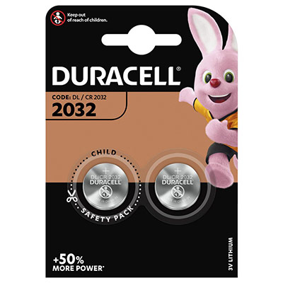 Piles Duracell 2032 lithium - blister de 2