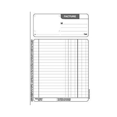 Manifold Le Dauphin - autocopiant - facture 210x297 - 50 feuillets - dupli
