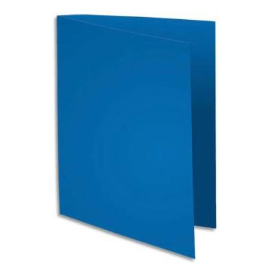 sous chemise flash de exacompta papier 100 recycl 80 g pour format a4 bleu fonc. Black Bedroom Furniture Sets. Home Design Ideas