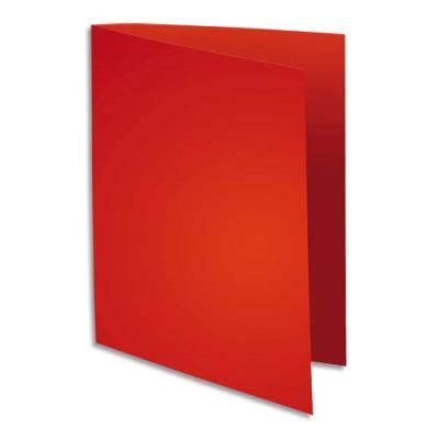 Sous chemise Flash de Exacompta - papier  100% recyclé 80 g - pour format A4  - rouge - paquet de 100