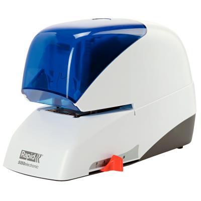 Agrafeuse électrique Rapid Supreme 5050e - ABS - blanc/bleu