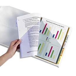 Double pochette intercalaires Avery - polypropylène - onglets personnalisables - format A4+ - Jeu de 6 - 5621501 (photo)