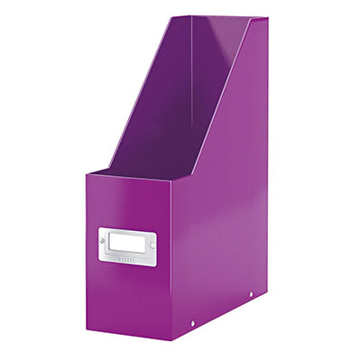 Porte-revues Leitz WOW en carton recouvert polypropylène - dos10 cm - violet