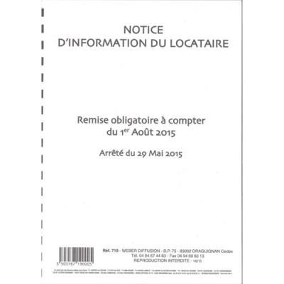 Notice d'information du locataire Weber Diffusion (photo)