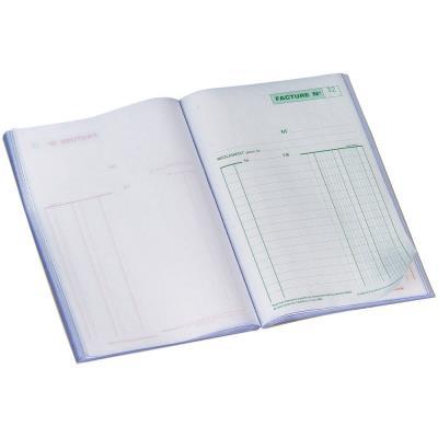 Carnet de factures Manifold, 50feuilles autocopiantes, sans carbone, 148x210mm (bloc 50 feuilles)