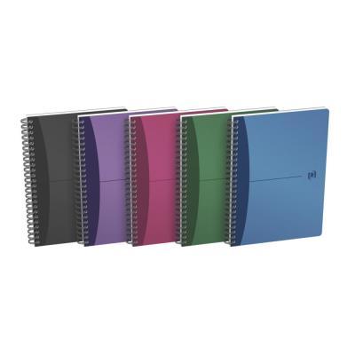 Répertoire Oxford Office - reliure intègrale - 180 pages - 14,8 x 21cm - ligné 7mm - couverture polypro -