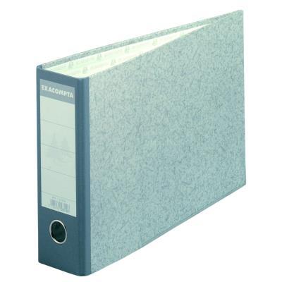 Classeur à levier Exacompta en carton - dos 7 cm - format 37 x 24 cm - gris