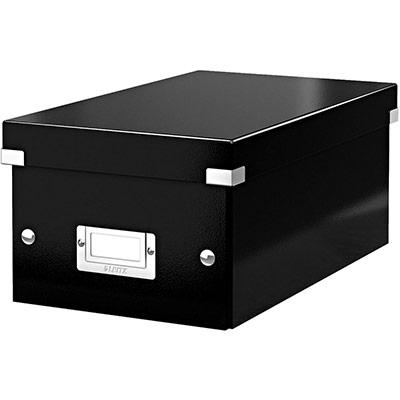 Boîte de rangement Leitz Click & Store pour DVD - noir