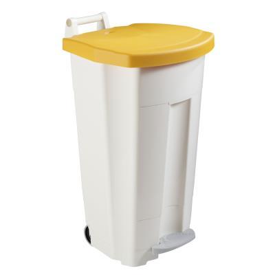 Poubelle à pédale Boogy  90 litres - couvercle jaune