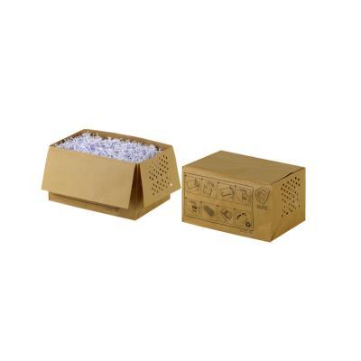 Sacs en papier recyclé pour destructeurs de documents - 26 L - marron - paquet 20 unités