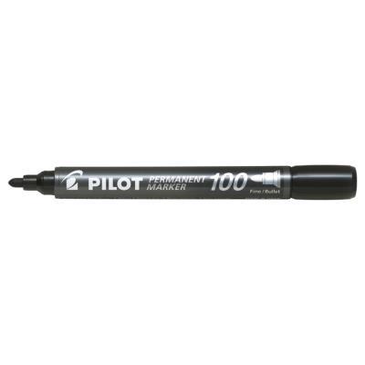 Marqueur permanent Pilot Marker 100 - pointe conique fine - noir