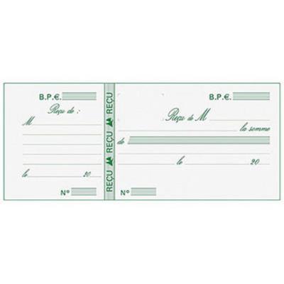 Carnet de reçus Manifold, détachage facile, 90 x 130 mm (bloc 25 feuilles)