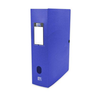 Boîte de classement Oxford Osmose 24X32 - dos de 8 cm en polypropylène opaque - bleu