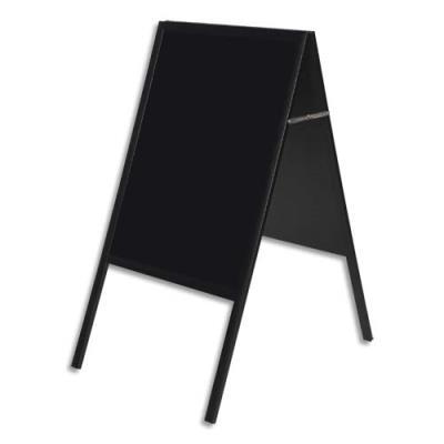 Chevalet ardoise BI-SILQUE noire double face 90x60 cm (photo)